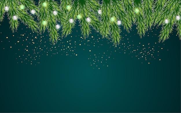 Frohe weihnachten hintergrund mit weihnachtslichtern