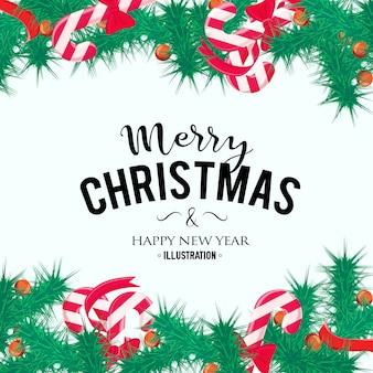 Frohe weihnachten hintergrund. perfektes dekorationselement für karten, einladungen und andere