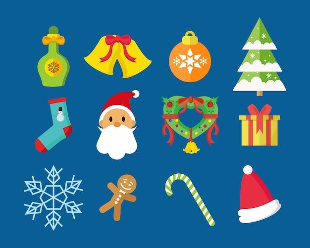 Frohe weihnachten icon pack