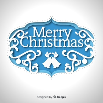 Frohe weihnachten im papierstil