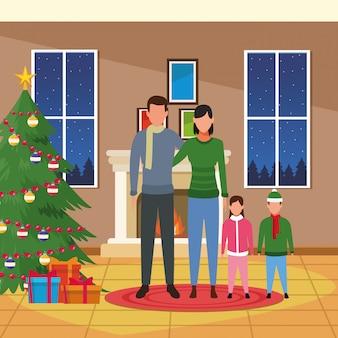 Frohe weihnachten in der familie