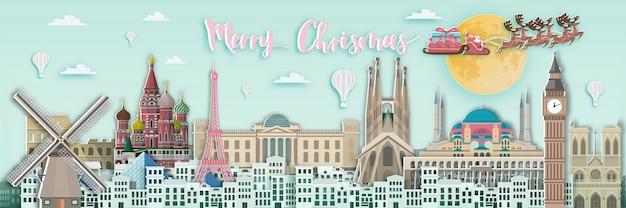 Frohe weihnachten in europa