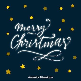 Frohe weihnachten in neon-schreibschrift