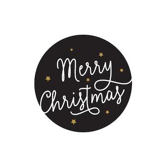 Frohe weihnachten inschrift im kreis