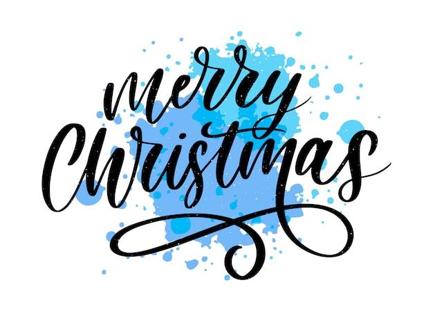 Frohe weihnachten kalligraphische inschrift mit goldenen sternen und perlen verziert