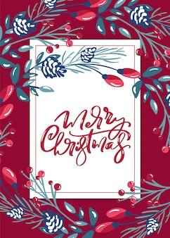 Frohe weihnachten kalligraphische schrift
