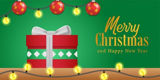 Frohe weihnachten karte banner vorlage