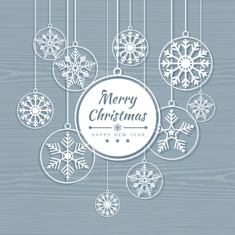 Frohe weihnachten karte mit schneeflocken banner. winter hintergrund vektor-illustration