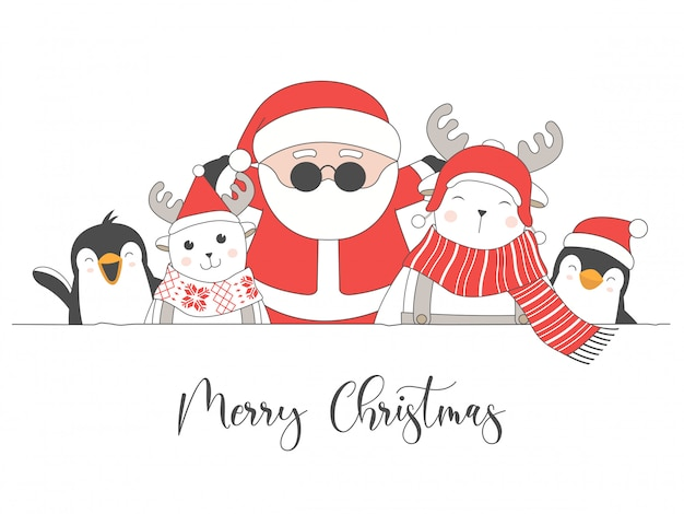 Frohe weihnachten-karte mit weihnachtszeichen