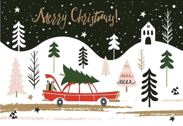 Frohe weihnachten-karte.