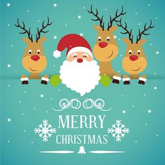 Frohe weihnachten kartendesign
