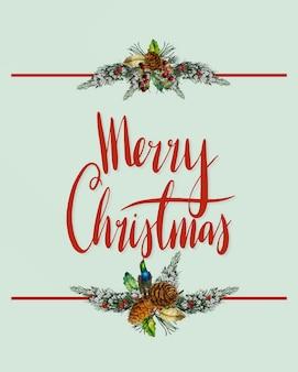 Frohe weihnachten kartenvektor