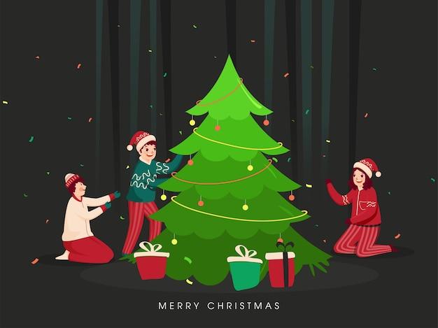 Frohe weihnachten konzept