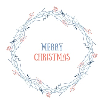 Frohe weihnachten kranz