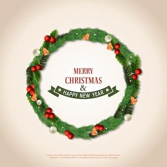 Frohe weihnachten kranzdesign