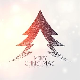 Frohe weihnachten kreativen baum mit partikeln punktieren gemacht