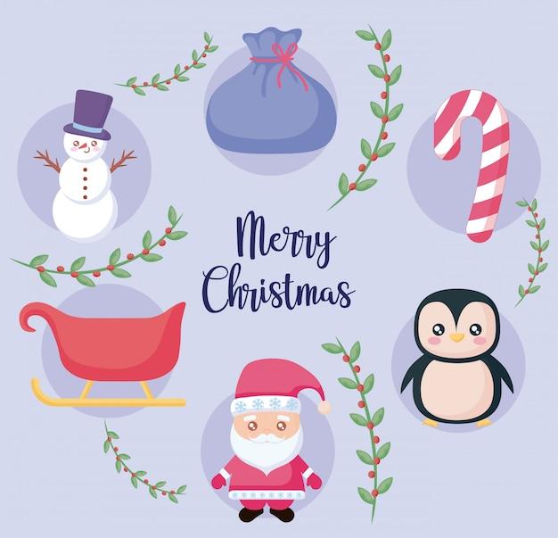 Frohe weihnachten-label-set
