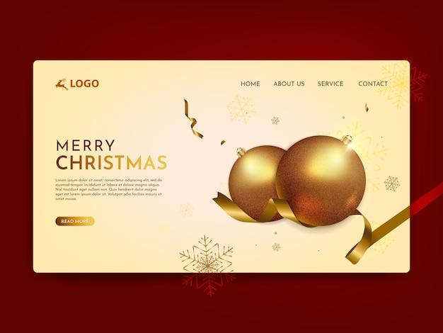 Frohe weihnachten landing page