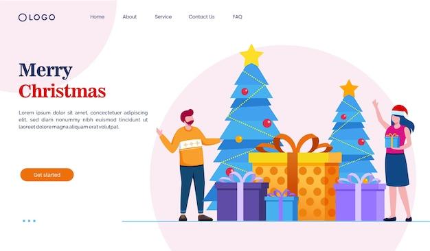 Frohe weihnachten landingpage-konzept