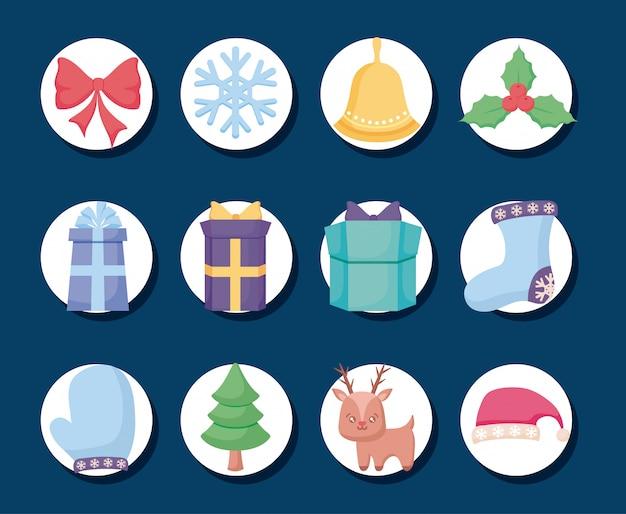 Frohe weihnachten lavel set