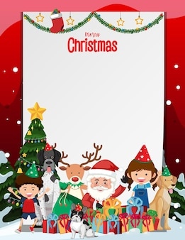 Frohe weihnachten leerer rahmen