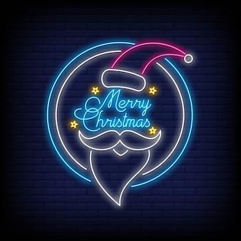 Frohe weihnachten leuchtreklame stil.