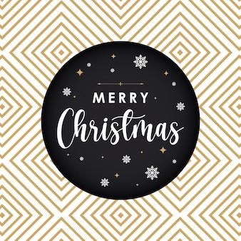 Frohe weihnachten-luxuspost mit musterhintergrund