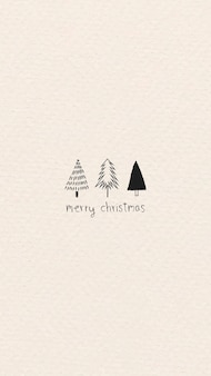 Frohe weihnachten minimale grußkarte