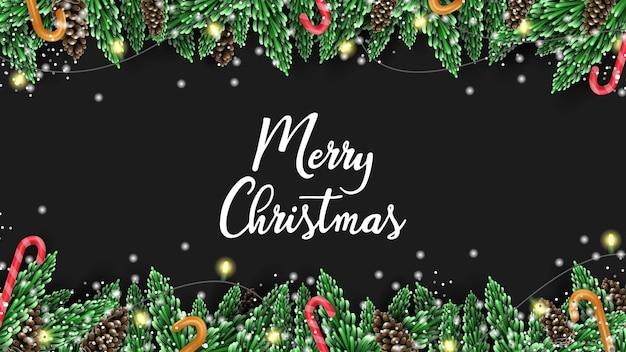 Frohe weihnachten mit 3d vektor