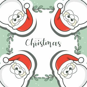 Frohe weihnachten mit 4 weihnachtsmann