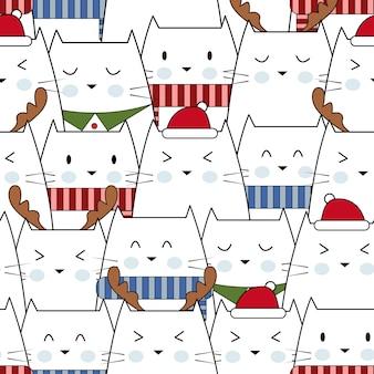 Frohe weihnachten mit kleinen katzen