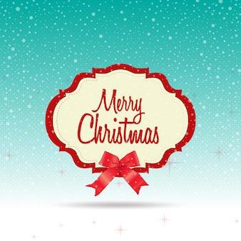 Frohe Weihnachten mit Schnee Hintergrund desgin