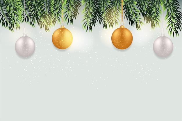 Frohe weihnachten mit weihnachtskugeln