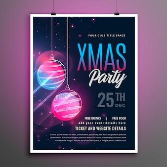 Frohe weihnachten musik party flyer vorlage