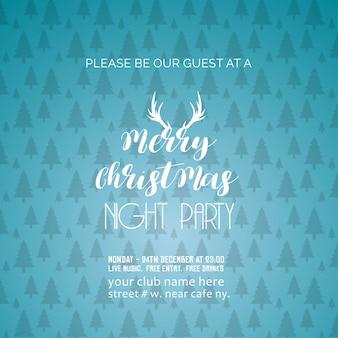 Frohe weihnachten nacht party hintergrund