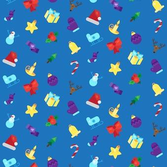 Frohe weihnachten nahtlose muster