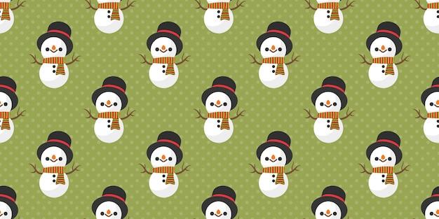 Frohe weihnachten, nahtloses muster schneemann weihnachtsmanns.