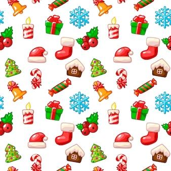 Frohe weihnachten nahtloses muster