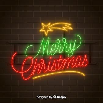 Frohe weihnachten neonhintergrund