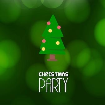 Frohe weihnachten party einladung hintergrund