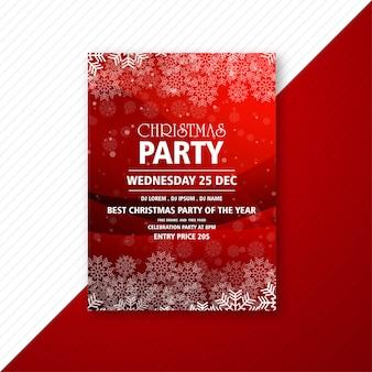 Frohe weihnachten party flyer