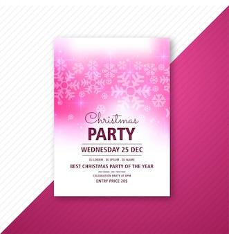 Frohe weihnachten party plakat flyer vorlage