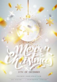 Frohe weihnachten plakat vorlage