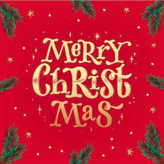 Frohe weihnachten quadratisches grußkartenplakat