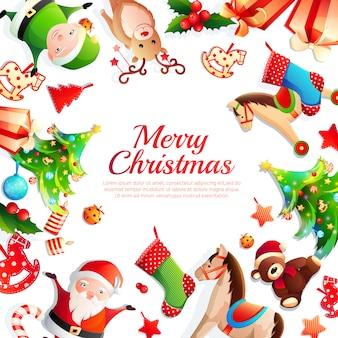 Frohe weihnachten rahmen