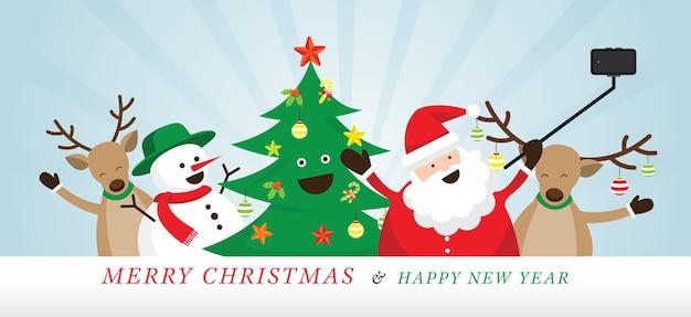 Frohe weihnachten santa gruß
