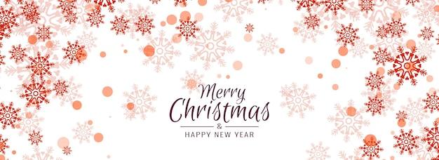 Frohe weihnachten schöne schneeflocken banner design