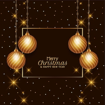 Frohe weihnachten schönen dekorativen hintergrund
