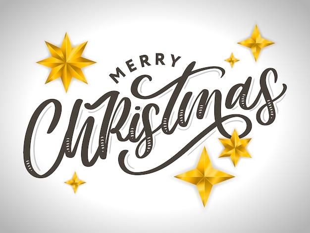 Frohe weihnachten schönes grußkartenplakat mit schwarzem textwort der kalligraphie. handgezeichnete elemente.