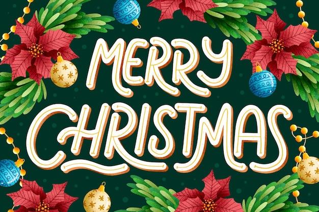 Frohe weihnachten-schriftzug auf festival-hintergrund